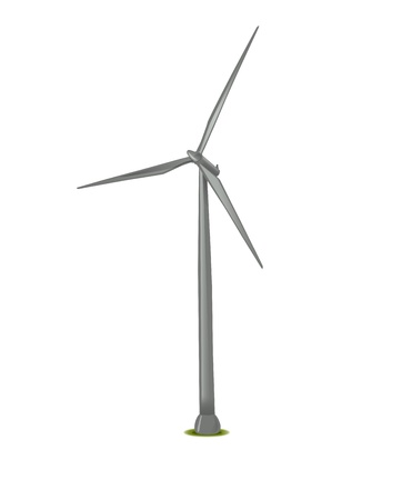 wind turbine: closeup picture or illustration of wind turbine Stock Photo