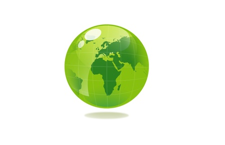 closeup picture or illustration of green sphere globe Stock Illustration - 18634074