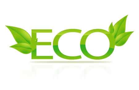ecological damage: closeup picture or illustration of eco sign