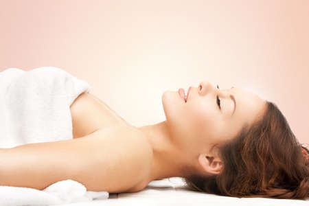 parlor: picture of beautiful woman beautiful woman in spa salon