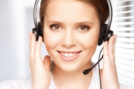 bright picture of friendly female helpline operator Stock Photo - 18822408