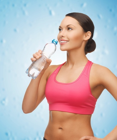 picture of sporty woman drinking water from bottle Stock Photo - 18803867