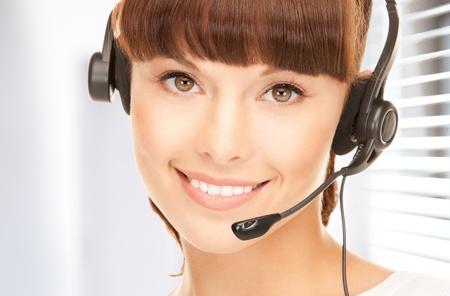 bright picture of friendly female helpline operator Stock Photo - 18803859