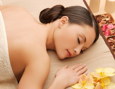picture of woman in spa salon lying on the massage desk Stock Photo - 18803821