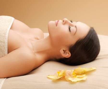 picture of woman in spa salon lying on the massage desk Stock Photo - 18803806
