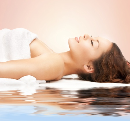 beauty parlor: picture of beautiful woman beautiful woman in spa salon