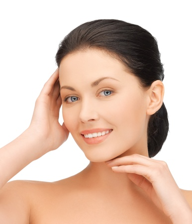 portrait of beautiful woman touching her face Stock Photo - 19097381