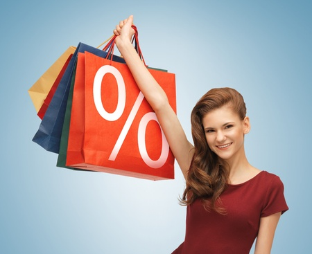 picture of beautiful girl with shopping bags Stock Photo - 19207267