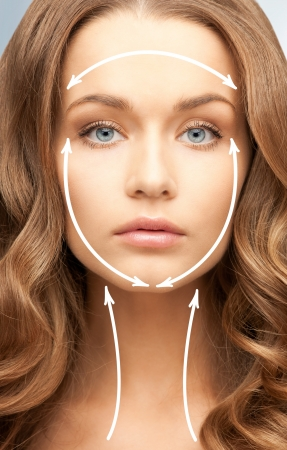 picture of beautiful woman ready for cosmetic surgery Stock Photo - 19229914