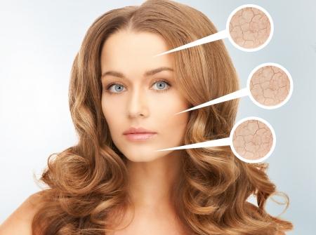 arrugas: Primer plano de imagen brillante retrato de una mujer hermosa