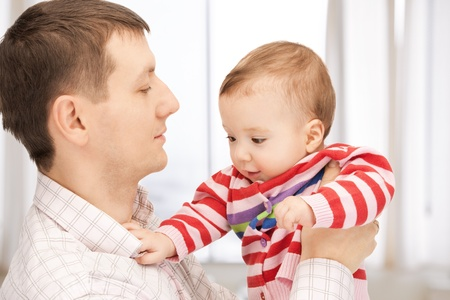 picture of happy father with adorable baby Stock Photo - 19229647