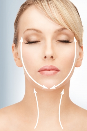 picture of beautiful woman ready for cosmetic surgery photo
