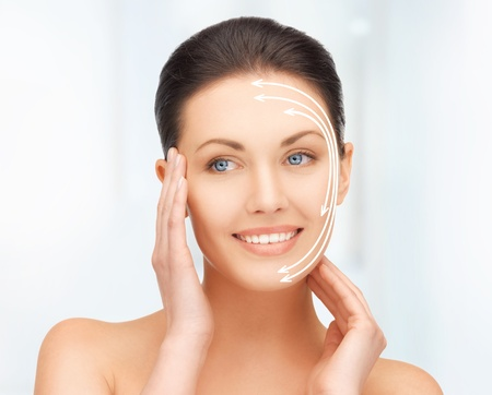 collagen: picture of beautiful woman ready for cosmetic surgery Stock Photo