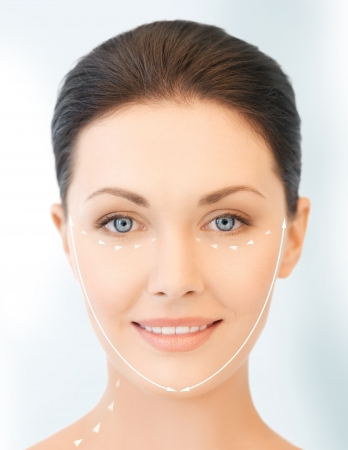 picture of beautiful woman ready for cosmetic surgery Stock Photo - 19229336