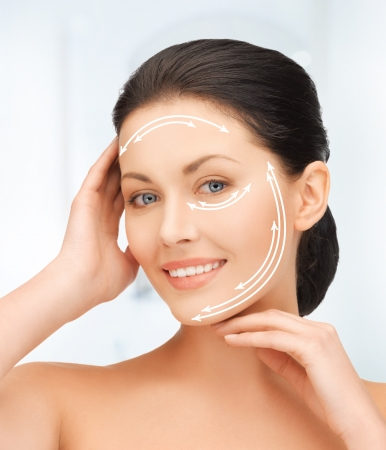 picture of beautiful woman ready for cosmetic surgery Stock Photo - 19229644