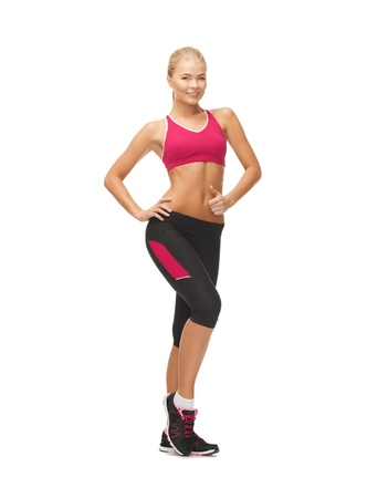 picture of beautiful athletic woman in sportswear Stock Photo - 19293143