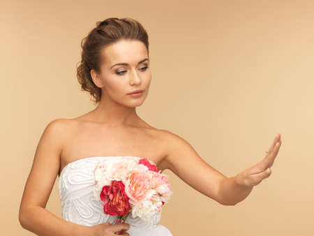 picture of bride looking at wedding ring  photo
