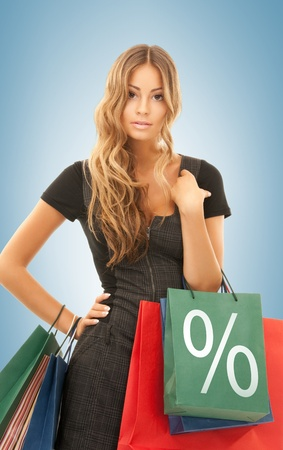picture of beautiful woman with shopping bags Stock Photo - 19347238