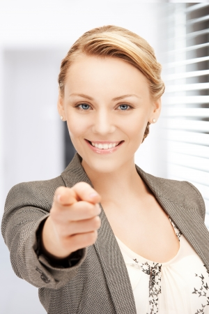 picture of attractive businesswoman pointing her finger Stock Photo - 19347288