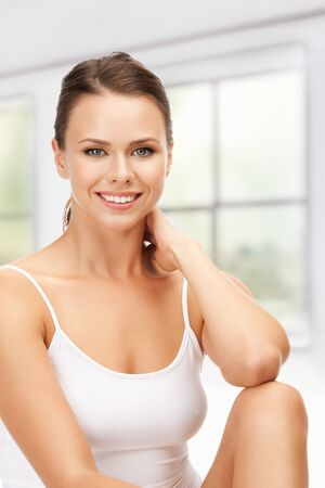 picture of beautiful woman in cotton undrewear Stock Photo - 19347234