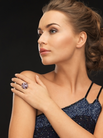 beautiful woman in evening dress with cocktail ring Stock Photo - 19347300