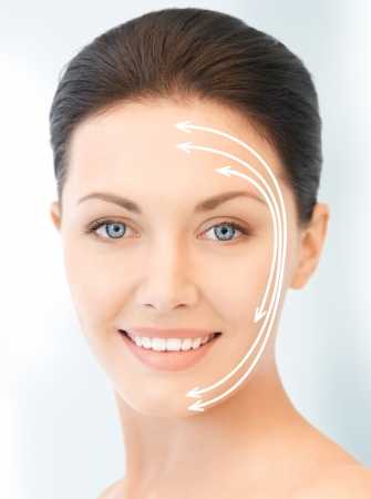 anti aging: picture of beautiful woman ready for cosmetic surgery Stock Photo