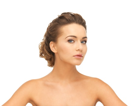 close up of clean face of beautiful young woman Stock Photo - 19412507