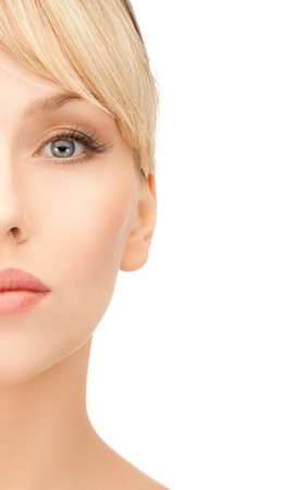 face of beautiful woman with blonde hair Stock Photo - 19730141