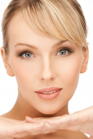 clean face of beautiful woman with blonde hair Stock Photo - 19730364