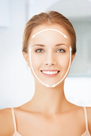 picture of beautiful woman ready for cosmetic surgery Stock Photo - 19802004