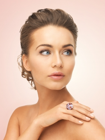 picture of beautiful woman with cocktail ring Stock Photo - 19802239