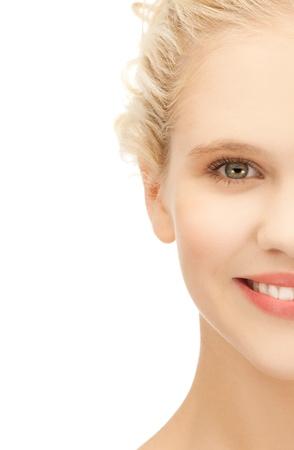 visage: imagen de la cara limpia de la hermosa ni�a
