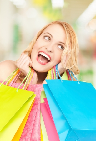 picture of lovely woman with shopping bags Stock Photo - 20074828