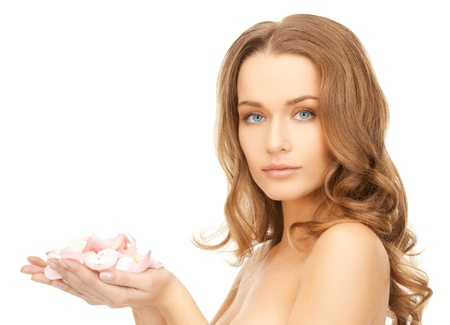 balsam: picture of beautiful woman with rose petals