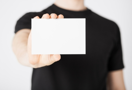 t square: picture of man hand with blank paper