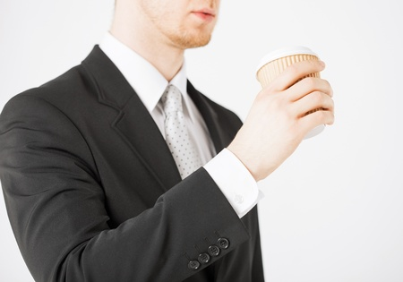 man hand holding take away coffee cup Stock Photo - 20074887