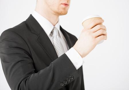 man hand holding take away coffee cup Stock Photo - 20074887