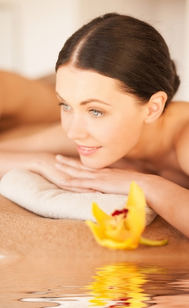picture of happy relaxed woman in spa salon Stock Photo - 20112346