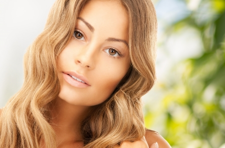 long: bright picture of beautiful woman with long hair