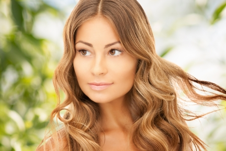 bright picture of beautiful woman with long hair Stock Photo - 20328111