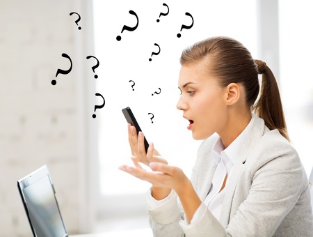 bright picture of woman shouting into smartphone Stock Photo - 20557111