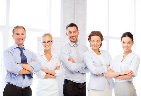 picture of happy business team in office Stock fotó - 20671905