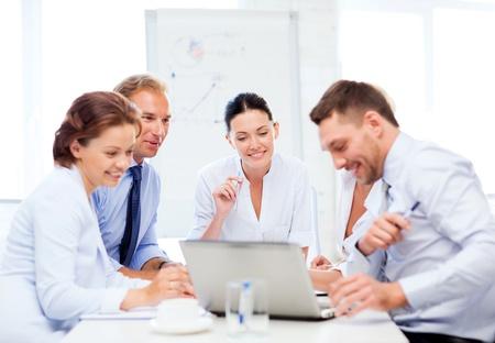 friendly business team having meeting in office 版權商用圖片
