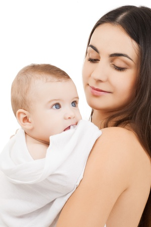 picture of happy mother with adorable baby photo