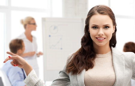 business concept - attractive young businesswoman in office Stock Photo - 20956863