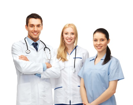 healthcare and medical - young team or group of doctors Stock fotó