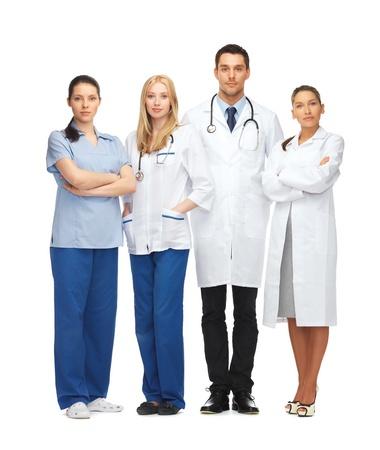 grupo de médicos: asistencia sanitaria y médica - equipo joven o grupo de médicos Foto de archivo