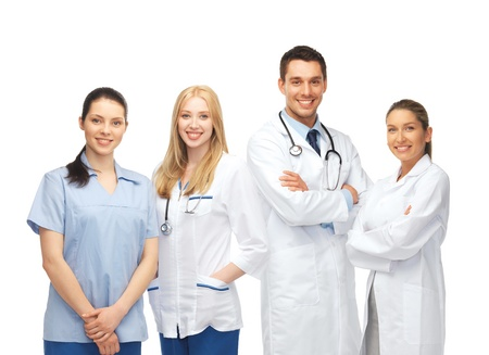 healthcare team: healthcare and medical - young team or group of doctors Stock Photo