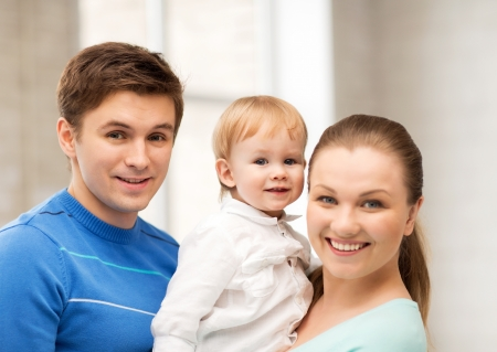 picture of happy family with adorable baby photo