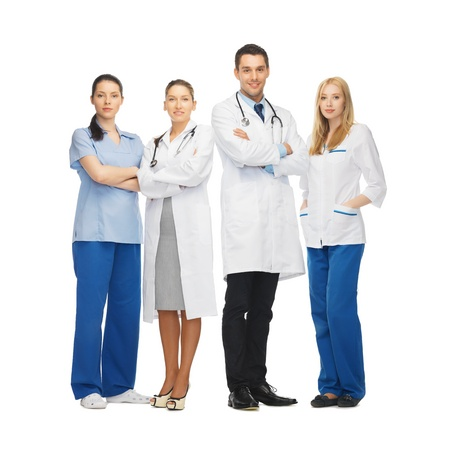 physiotherapists: picture of young team or group of doctors